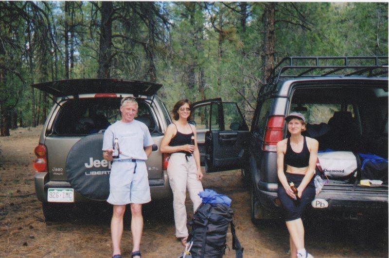 John, Pat, and Judy - beer time