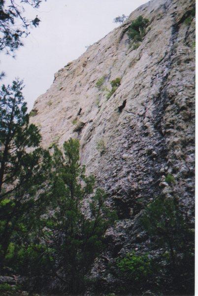 View of El Rito Trad cliff