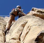 Rock Climbing Photo: After some delicate stemming moves and reaching fo...