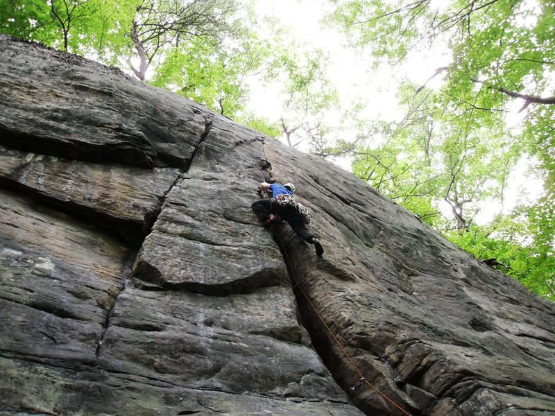 Rock Climbing Photo: Having Fun on Gemini Crack
