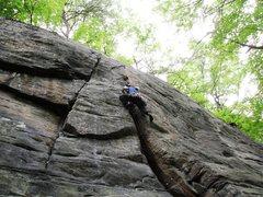 Rock Climbing Photo: Having Fun on Gemini Crack