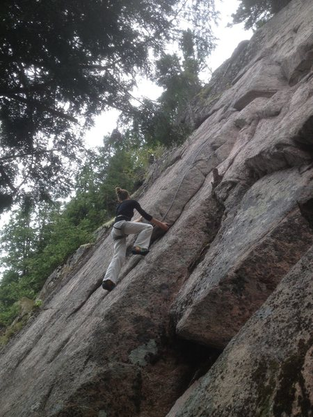 Rock Climbing Photo: Cynthia Isabelle enjoying the high quality stone a...