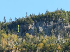 Rock Climbing Photo: A view of the route Washed Out on the Washout Crag...