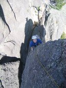 Rock Climbing Photo: My wife having fun on Holey Terror