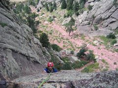 Rock Climbing Photo: My good friend having fun on Yellow Spur.
