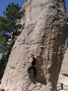 Rock Climbing Photo: Having fun on the Thimble