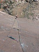 Rock Climbing Photo: My wife Having fun on Birdland