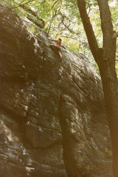 Rock Climbing Photo: circa 7/1983 - 2 months after FA