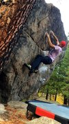 Rock Climbing Photo: Feelin' the pinch, the gaston, and the dampness......