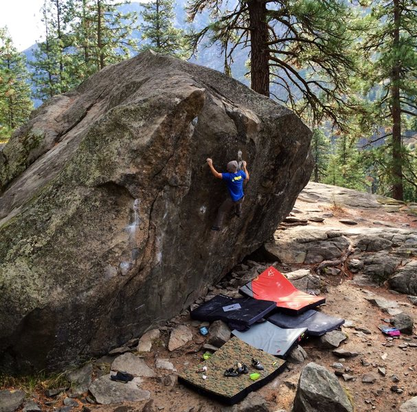 Rock Climbing Photo: Joel on the send. Such a great line in a spectacul...