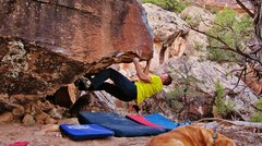 Rock Climbing Photo: Start beta of The Haxan Cloak.