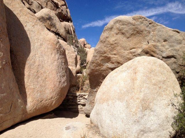 Rock Climbing Photo: Remnants of an old dam, Joshua Tree NP