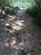 Rock Climbing Photo: Severe topout erosion
