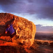 Rock Climbing Photo: Cory on Heel Hook