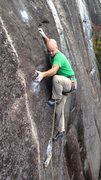 Rock Climbing Photo: Just a few more moves... Thanks to Eric for hangin...