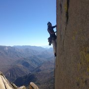 Rock Climbing Photo: Some rad dude styling Thin Ice.         12 Oct. 20...