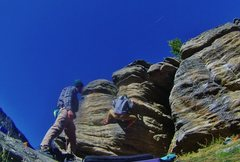 Rock Climbing Photo: Evan cruising on Wunderbar!!