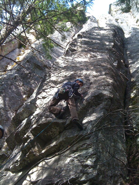 Rock Climbing Photo: John Inglis getting the First Free Ascent of  Godd...
