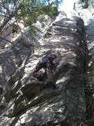 Rock Climbing Photo: John Inglis getting the First Free Ascent of  Godd...