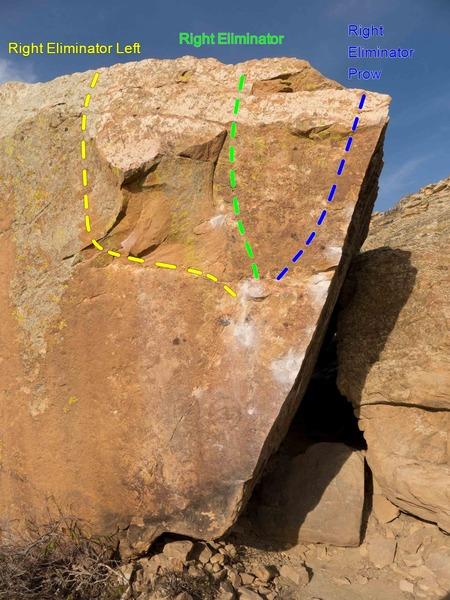 Rock Climbing Photo: Right Eliminator problems.