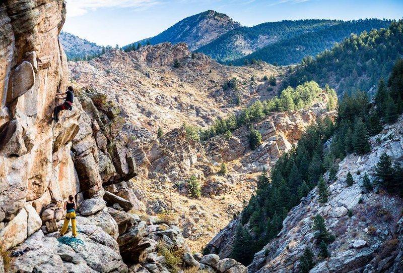 Keith North climbing.<br> <br> Jen Crook photo.
