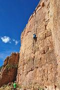 Rock Climbing Photo: Frank on Damn Right I've Got the Moves.