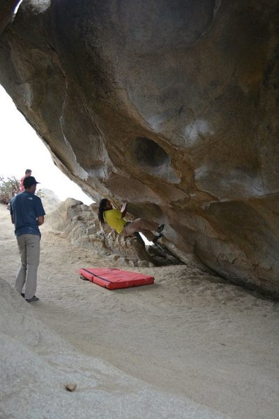Rock Climbing Photo: sooooo this thing is pretty hard... I can pull on ...