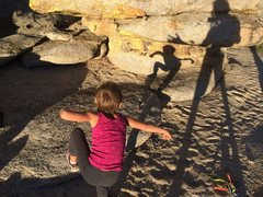Rock Climbing Photo: Dancing shadow Monkey