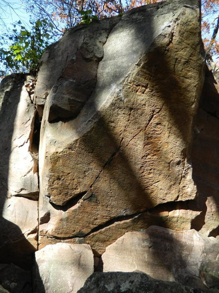 Rock Climbing Photo: Left of Love Triangle starts on the corner and goe...