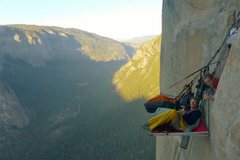 Dave Weintraub, Buck Yedor, and Andrew Bellisle bivied at Camp V on The Nose of El Cap.
