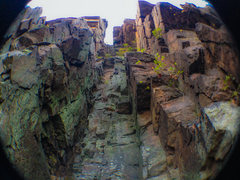 Rock Climbing Photo: Blue Gus Chimney!