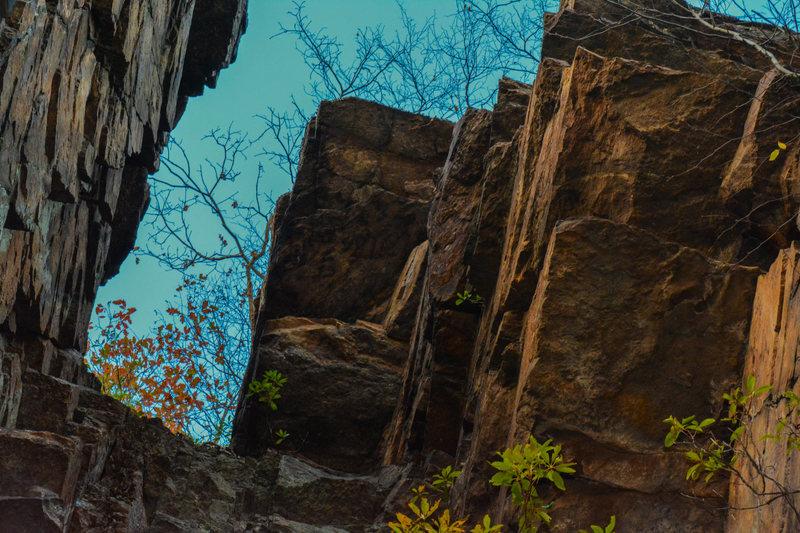 Rock Climbing Photo: Top of Blue Gus Chimney