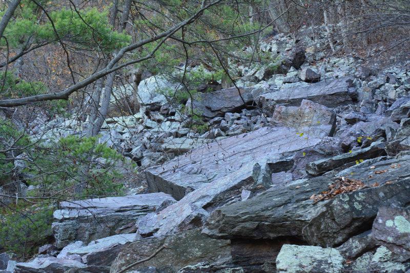 Rock Climbing Photo: really big talus