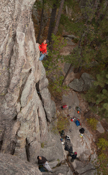 Rock Climbing Photo: Mike on the arete