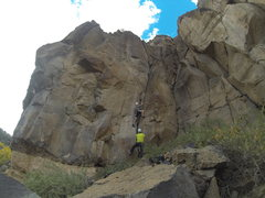 Rock Climbing Photo: Kral and Brandon heading up the 5.9