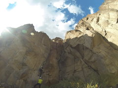 Rock Climbing Photo: the 5.10b roof is sick