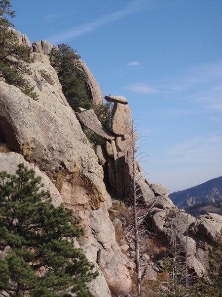 Totem Tower, Main Crag.