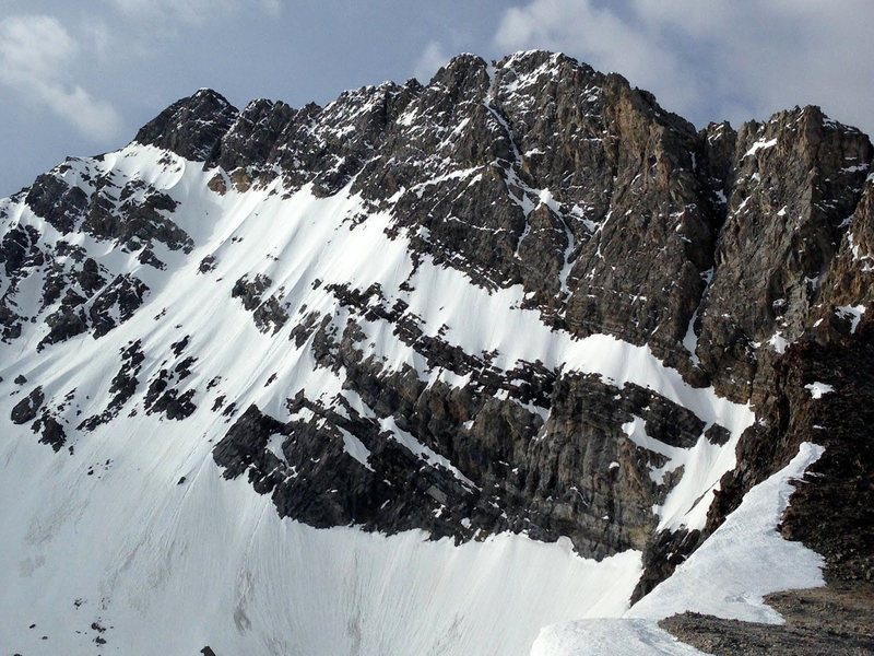 The awesome north face of Mount Borah