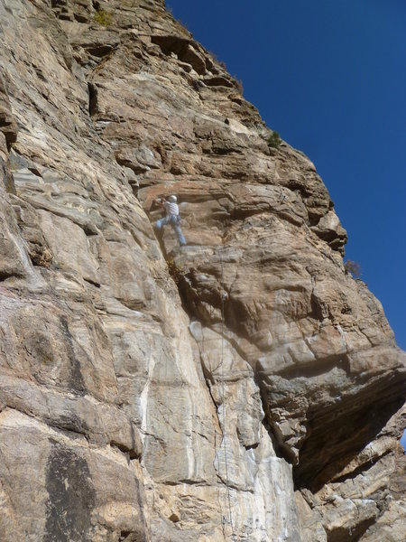 Rock Climbing Photo: Approaching the upper crux area.