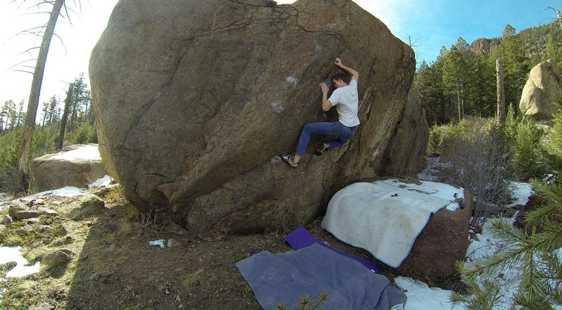 Finding the feet before the crux.