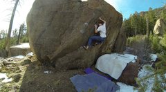 Rock Climbing Photo: Finding the feet before the crux.