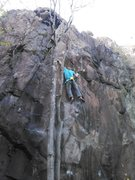 Rock Climbing Photo: On the FFA