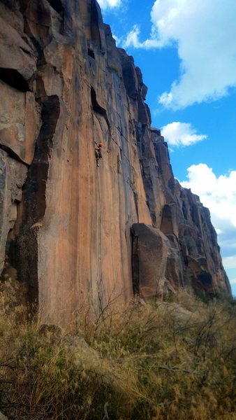 Rock Climbing Photo: Psycho Killer is an amazing splitter up the otherw...