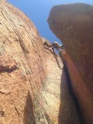 Rock Climbing Photo: Stemming!!