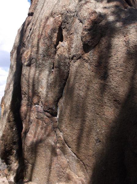 Rock Climbing Photo: The jug at the top.