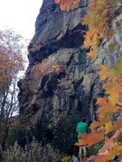 Rock Climbing Photo: Carley woking a new route:) Chris Olsen on belay g...