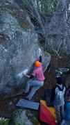 Rock Climbing Photo: Jacob sending.