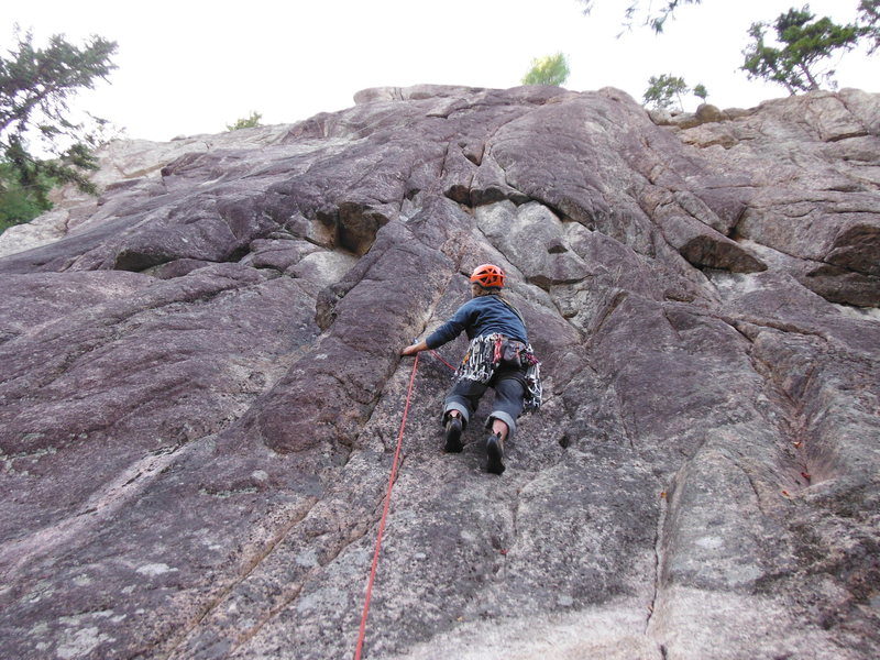 Rock Climbing Photo: Max Fisher on the thin start to Neutral Tribe.