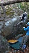 Rock Climbing Photo: Dobbe sending.