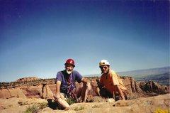 Rock Climbing Photo: Sir Chris Bonington and Paul Ross.... A long way f...